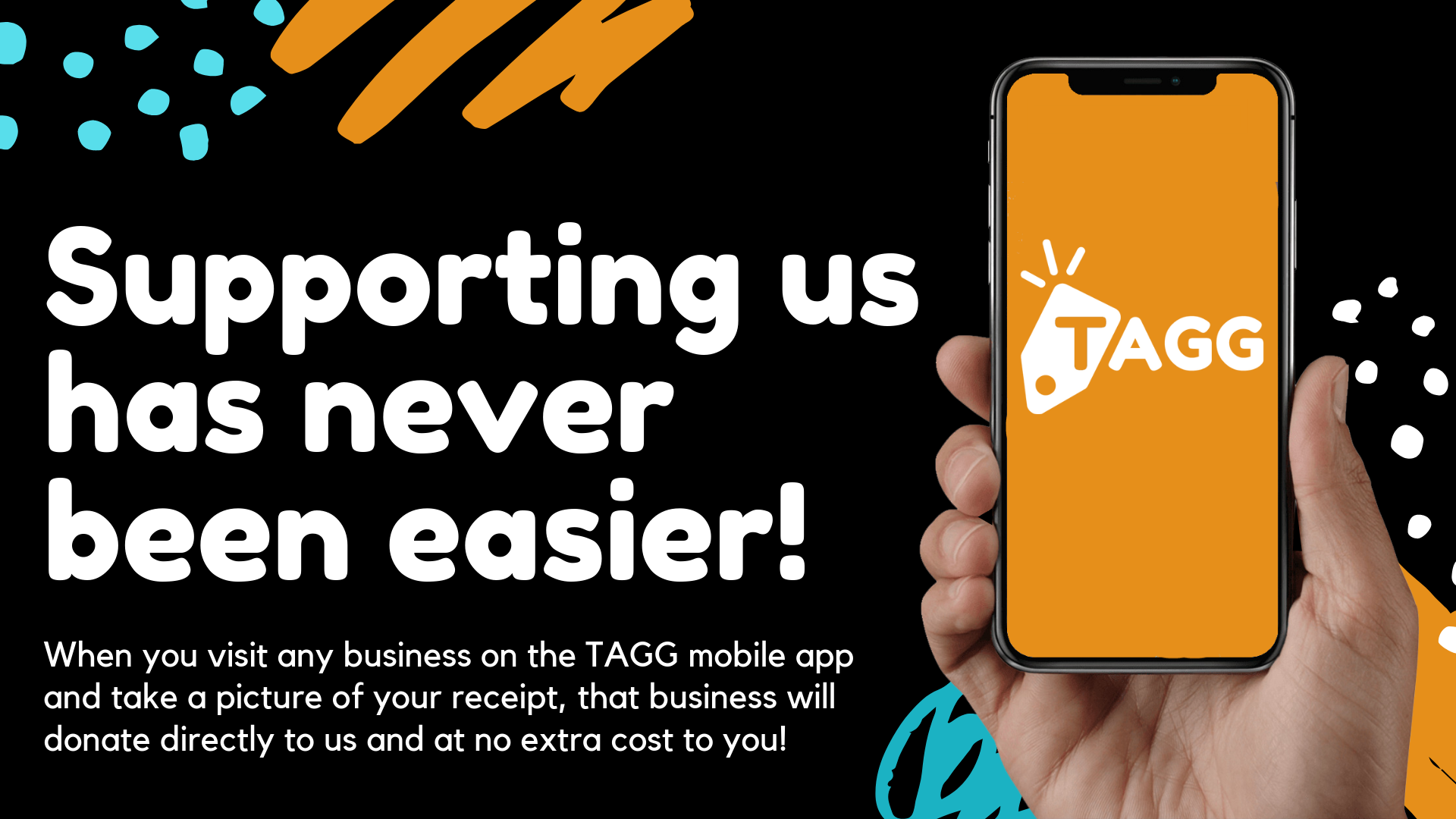 tagg makes it easy to support us